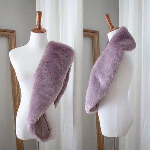 Women's NEW Lilac Purple Faux Fur Collar Shawl, OS